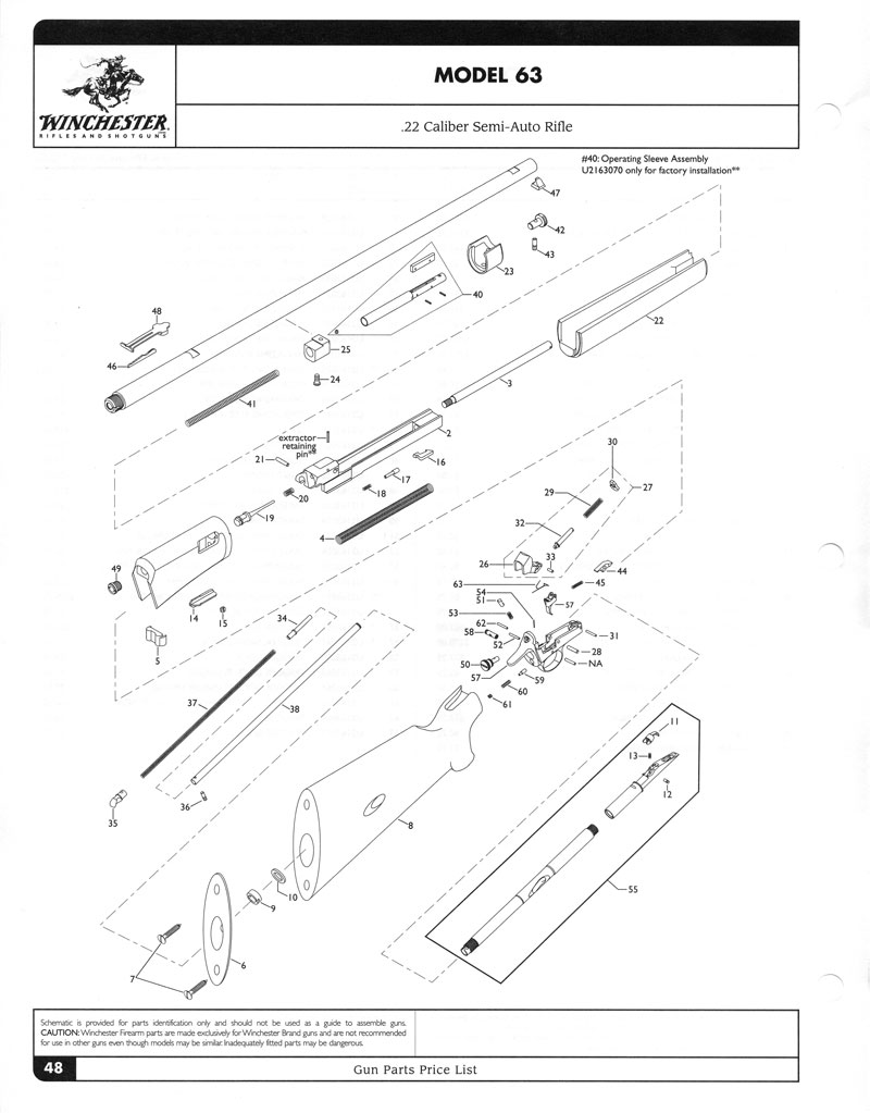 win model 63 parts diagram